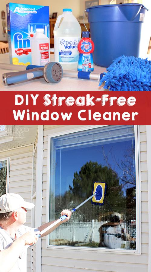 Streak Free Window Cleaner No Squeegee Required Cleaning Hacks Window Cleaner Washing Windows