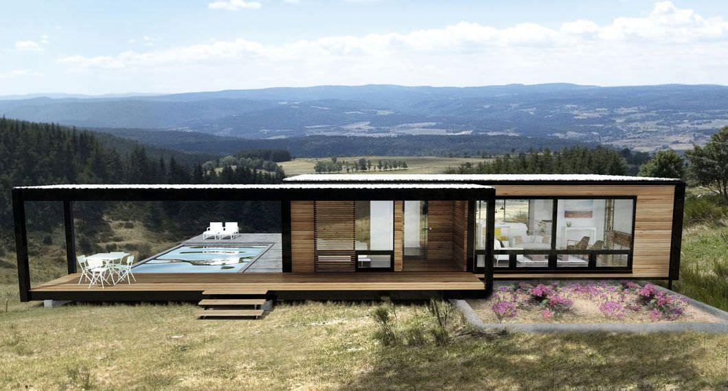 Maison modulaire   contemporaine   ossature métallique   en métal 5 - plan maison structure metallique