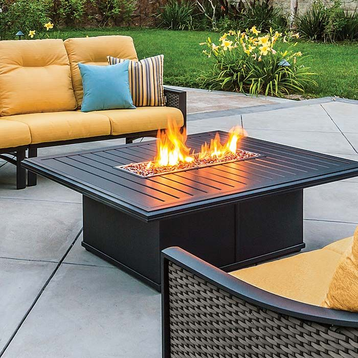 Kenzo Sling Woven And Cushion Leisure Living Fire Pit Outdoor Fire Pit Modern Fire Pit