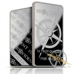Provident Metals 10 Oz Silver Bar Buy 999 Fine Silver Silver Bars Silver Bullion Where To Buy Silver