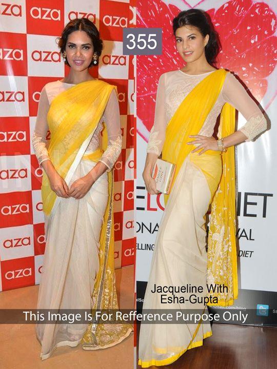 7d35aa0986 Bollywood Replica saree - Jacqueline with Esha Gupta | Bollywood ...
