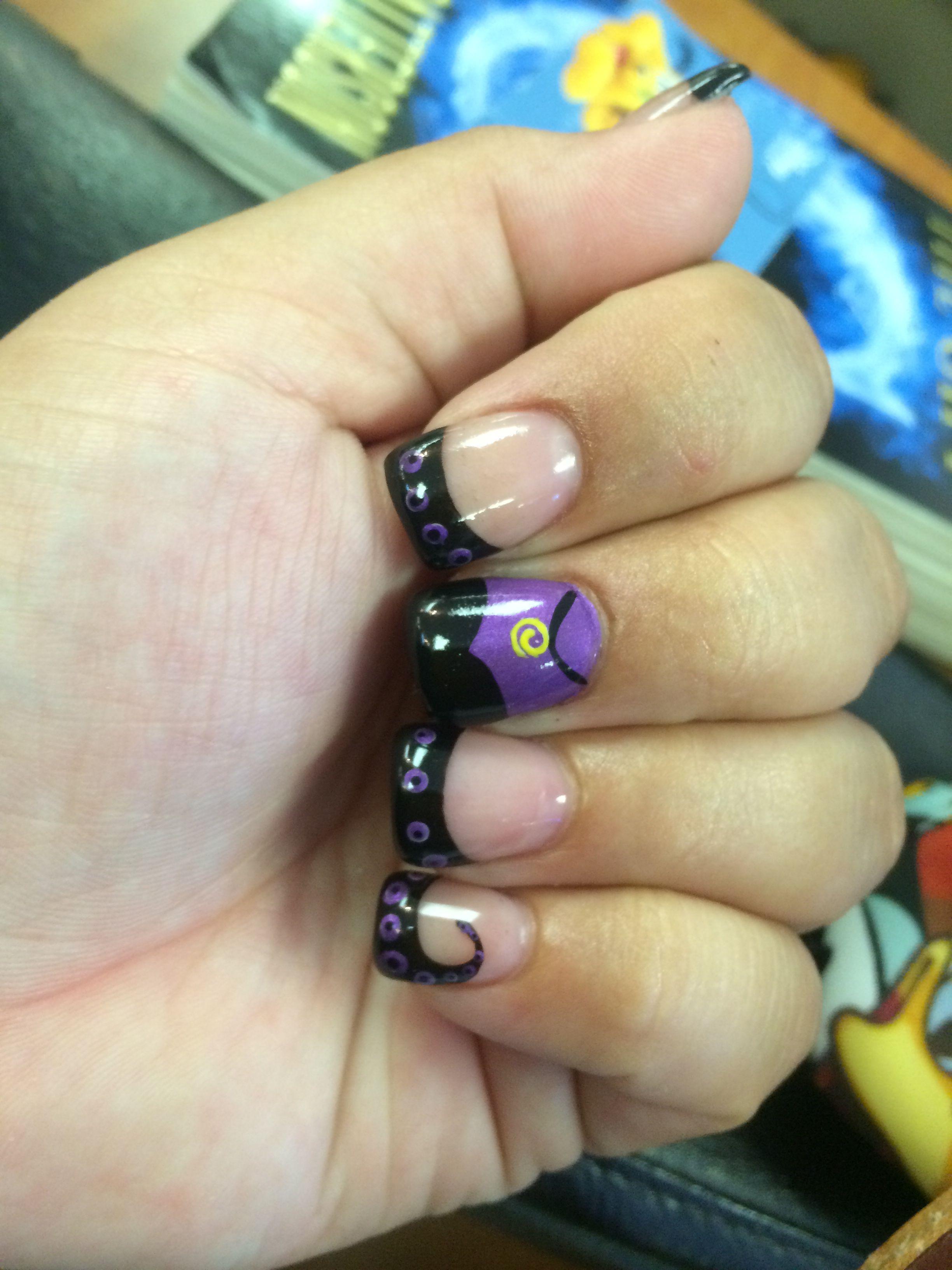 Ursula nail art. Love it!!   Nail art :)   Pinterest   Nagelschere