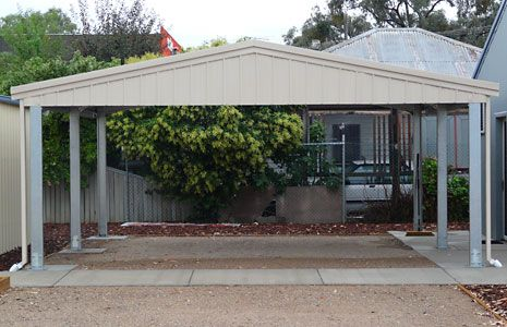 free 2 car carport plans sidach sheds built tough. Black Bedroom Furniture Sets. Home Design Ideas