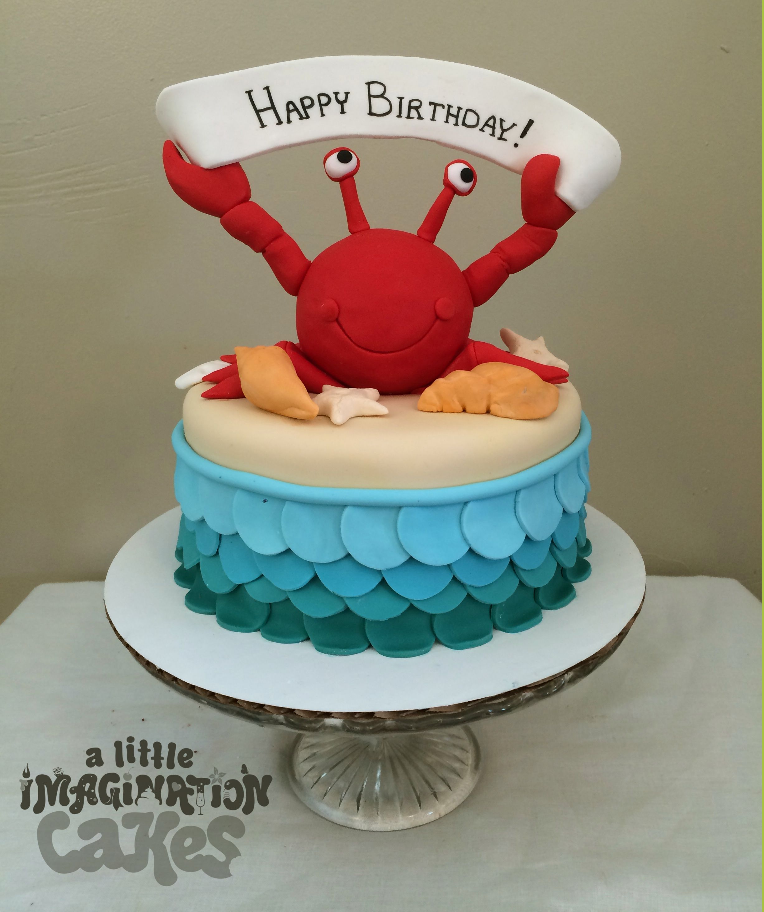 Wondrous Super Cute Birthday Crab Cake By A Little Imagination Cakes Crab Funny Birthday Cards Online Necthendildamsfinfo