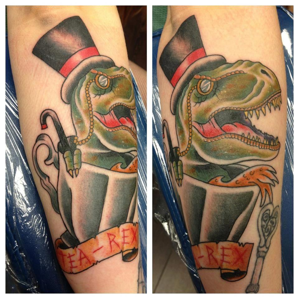 tea rex dinosaur tattoo tattoos pinterest tinte. Black Bedroom Furniture Sets. Home Design Ideas
