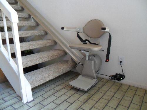 Bruno Elan Straight Stairlift Indoor Swivel Seating Elegant Design