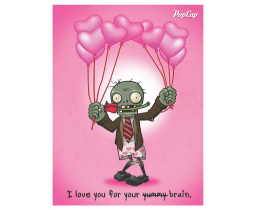 Plants vs Zombies valentines x loves this game is this too – Zombie Valentines Cards
