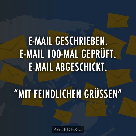Photo of Written email. Email checked 100 times. Email … | Kaufdex