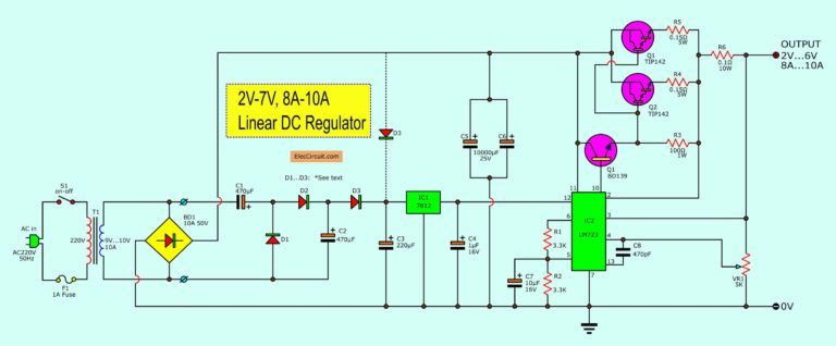 5v 5a Power Supply Circuit Electronic Circuit Projects Power Supply Circuit Electronic Circuit Projects Circuit Projects