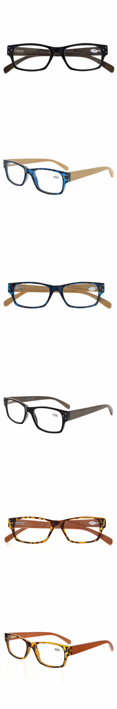 6533b68dce5 R132 Eyekepper Spring Hinges Wood Arms Reading Glasses Men Women +0.00----