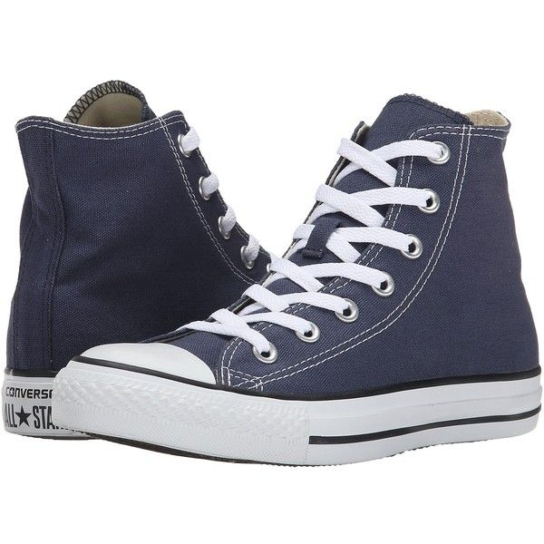 Converse Chuck Taylor All Star Core Hi (Navy) Classic Shoes ( 55) ❤ liked  on Polyvore featuring shoes 354d2fcb2