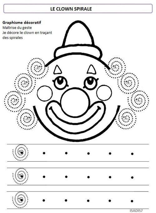 Sur le th me du cirque la spirale divers maternelle - Coloriage cirque maternelle ...