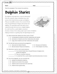 The Dolphin Stories Grade 6 Close Reading Passage