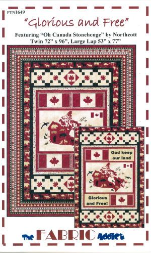 Glorious and Free ( Oh Canada) - Quilt Pattern | Canadiana quilts ... : quilt fabrics canada - Adamdwight.com