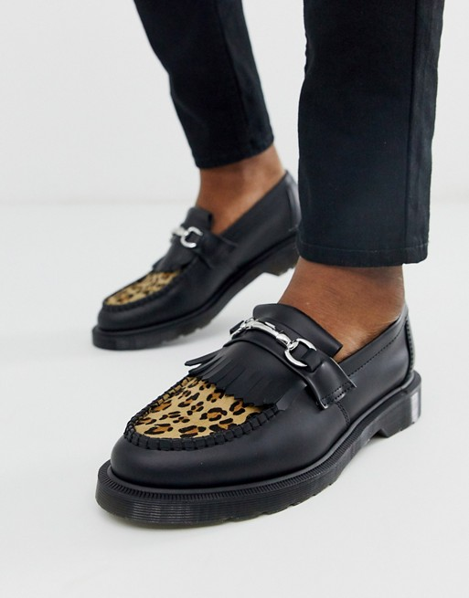 Dr Martens Adrian Bar Loafers In Leopard Dr Martens Mens Shoes Dr Martens Shoes Mens Shoes Boots
