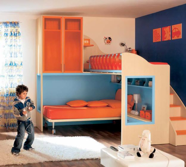 Kids Bunk Bed With Storage Cabinets Boys Cs20 Moretticompact