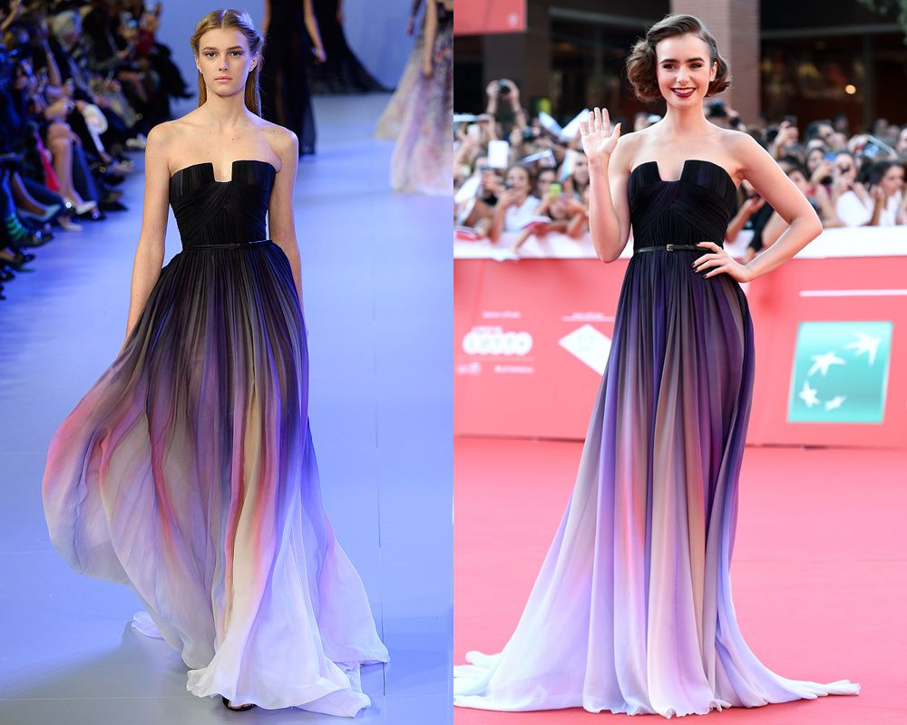 Los looks + deseados, de la pasarela a la red carpet | Lily collins ...