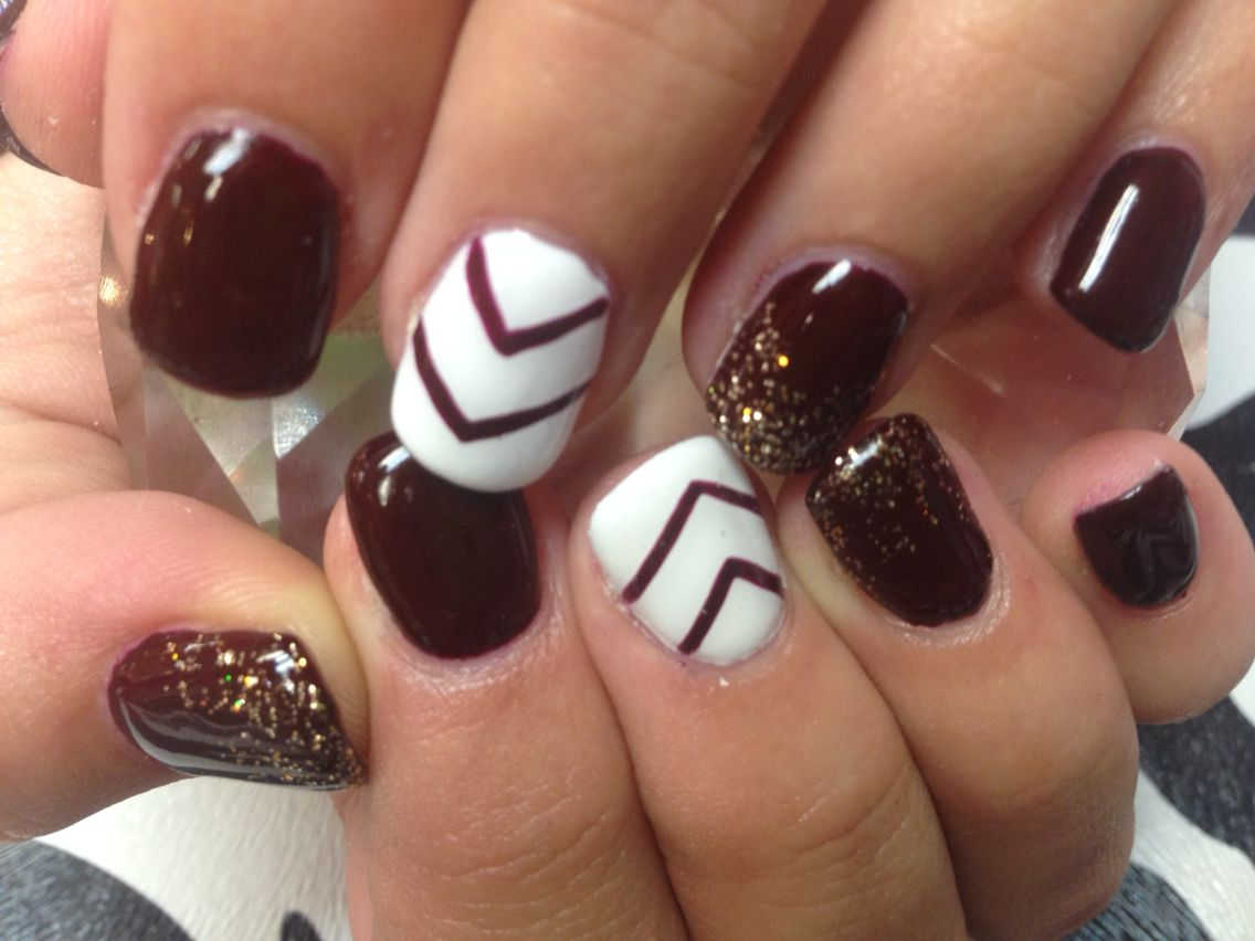 More Gold And Maroon Toe Nail Art Toe Nails Nails