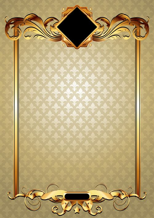 Gold elements vector backgrounds 03 | special papers ...