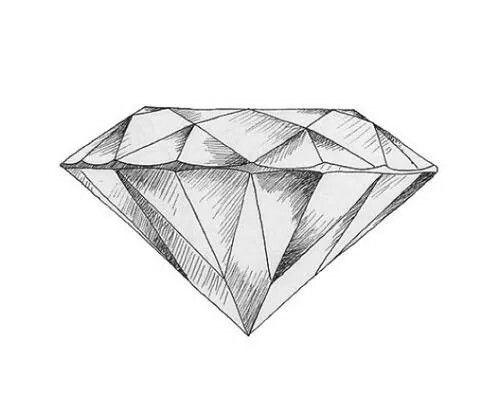 Diamond sketch google search diamonds - Diamant dessin ...