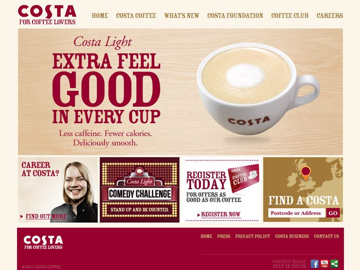 30 Coffee Websites Coffee Websites Coffee Club Costa Coffee