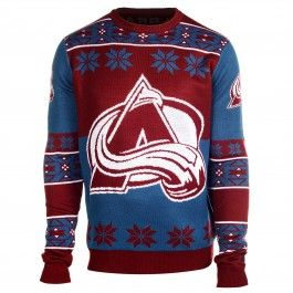 finest selection 96059 ecec6 Colorado Avalanche Big Logo Ugly Sweater (Maroon) | Sports ...