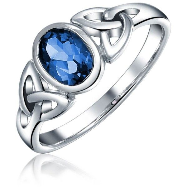 Bling Jewelry Blue Beauty Ring ($23) ❤ liked on Polyvore featuring jewelry, rings, blue, christmas jewelry, blue jewelry, celtic knot jewelry, blue ring and celtic knot ring