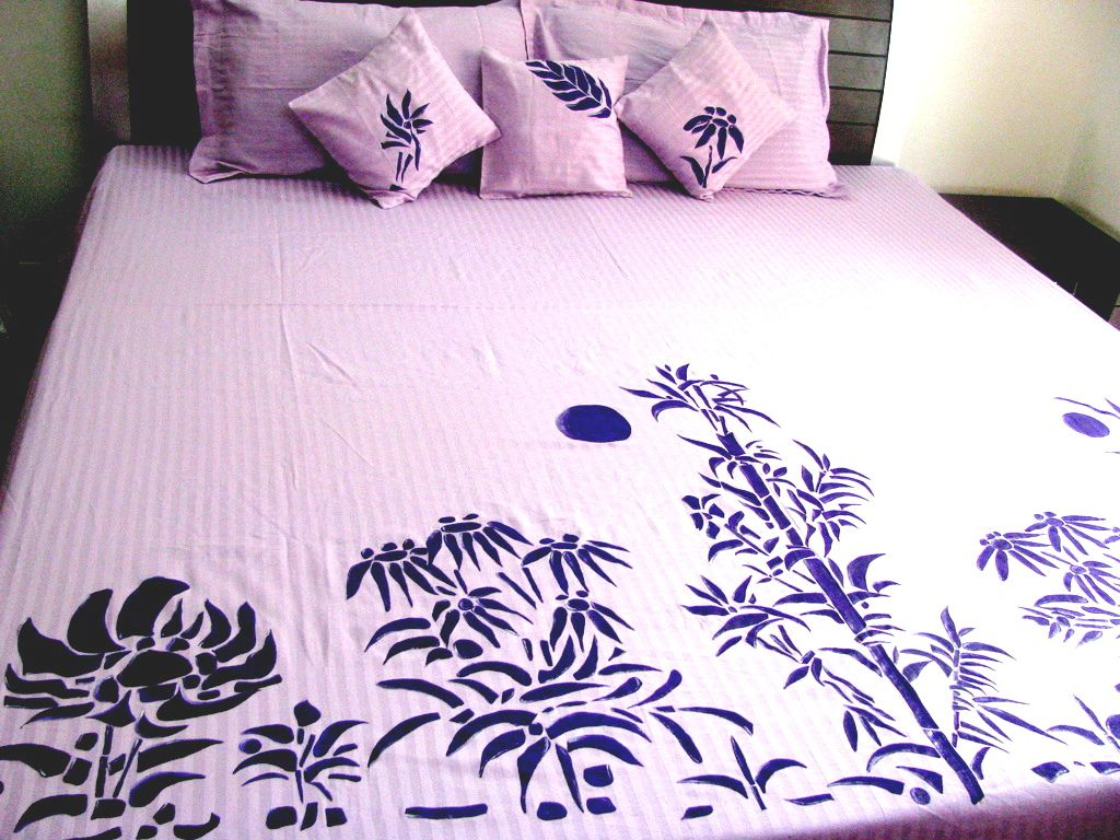 Pin By Shruhiarts On Art Work By Shruhiarts Bed Sheet Painting