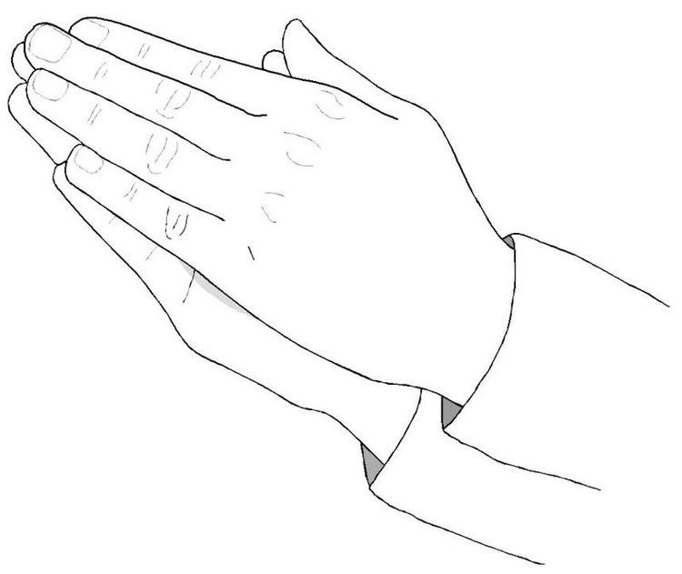 Top Praying Hands Coloring Page Hand Coloring Coloring Pages Praying Hands