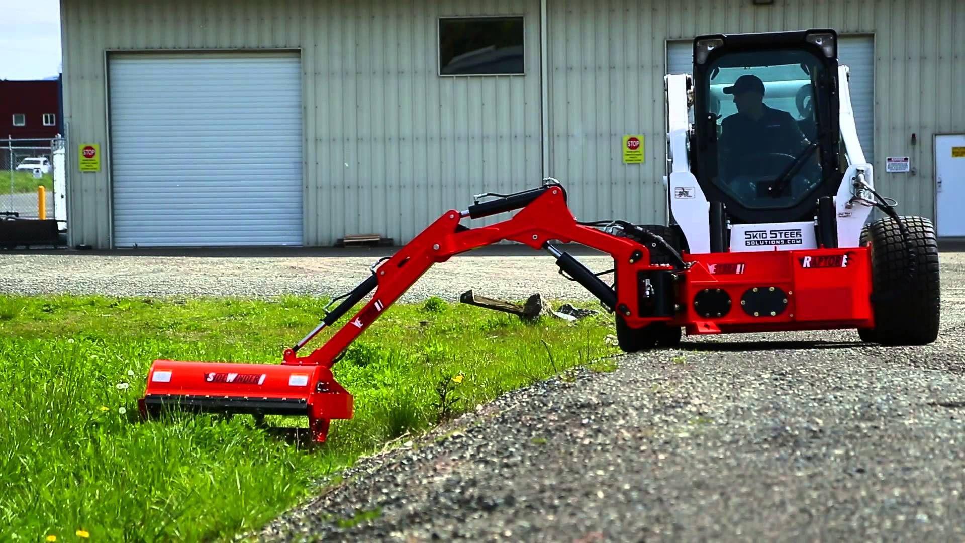Side Mower Attachment for Skid Steer   Skid Steer Roadside Mower