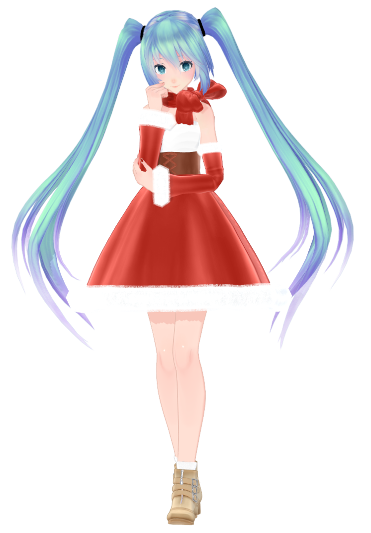 Hatsune Miku Christmas Outfit.Pin On Rigged Mmd Models