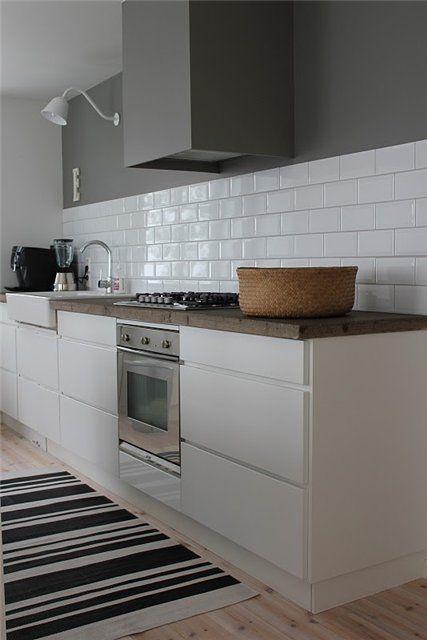 grey  white kitchen Modern home Pinterest Peindre mur - Peinture Pour Carrelage De Cuisine