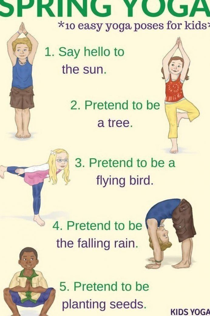 Yoga for Spring  celebrate spring with these ten easy yoga poses for kids   Kids Yoga Stories #fitne...