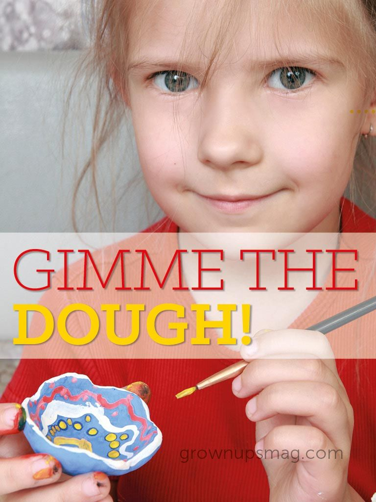Gimme the Dough! | Grown Ups Magazine - You can make a fun, non-toxic play dough using simple kitchen ingredients!