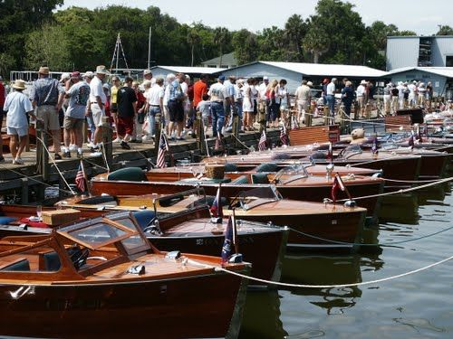 The annual Antique Boat Show in Mount Dora, Florida (just