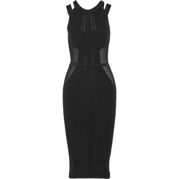 Cushnie et Ochs Cutout paneled stretch-knit dress (39.260 RUB) via Polyvore  featuring