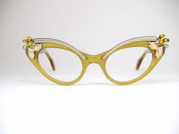 24e2295467 Vintage Schiaparelli Cat Eye Eyeglasses Frame by Vintage50sEyewear ...