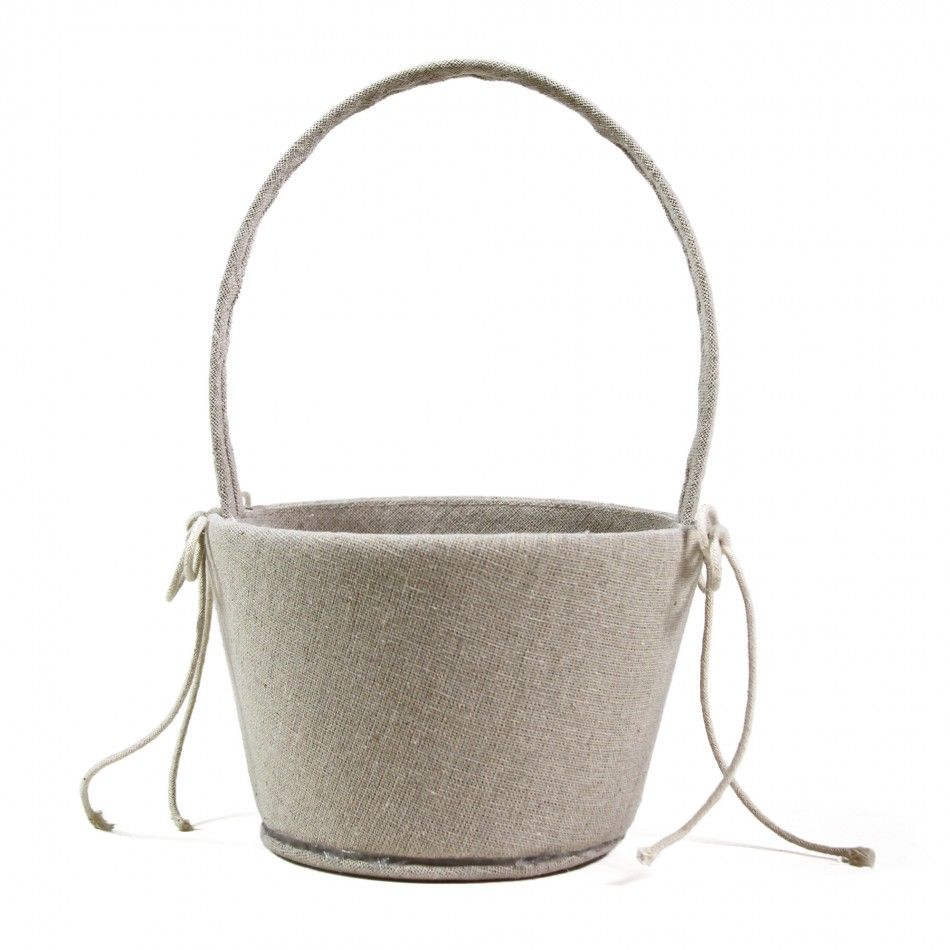 Rustic Charm Cotton Muslin Flower Girl Basket [424206] : Wholesale ...