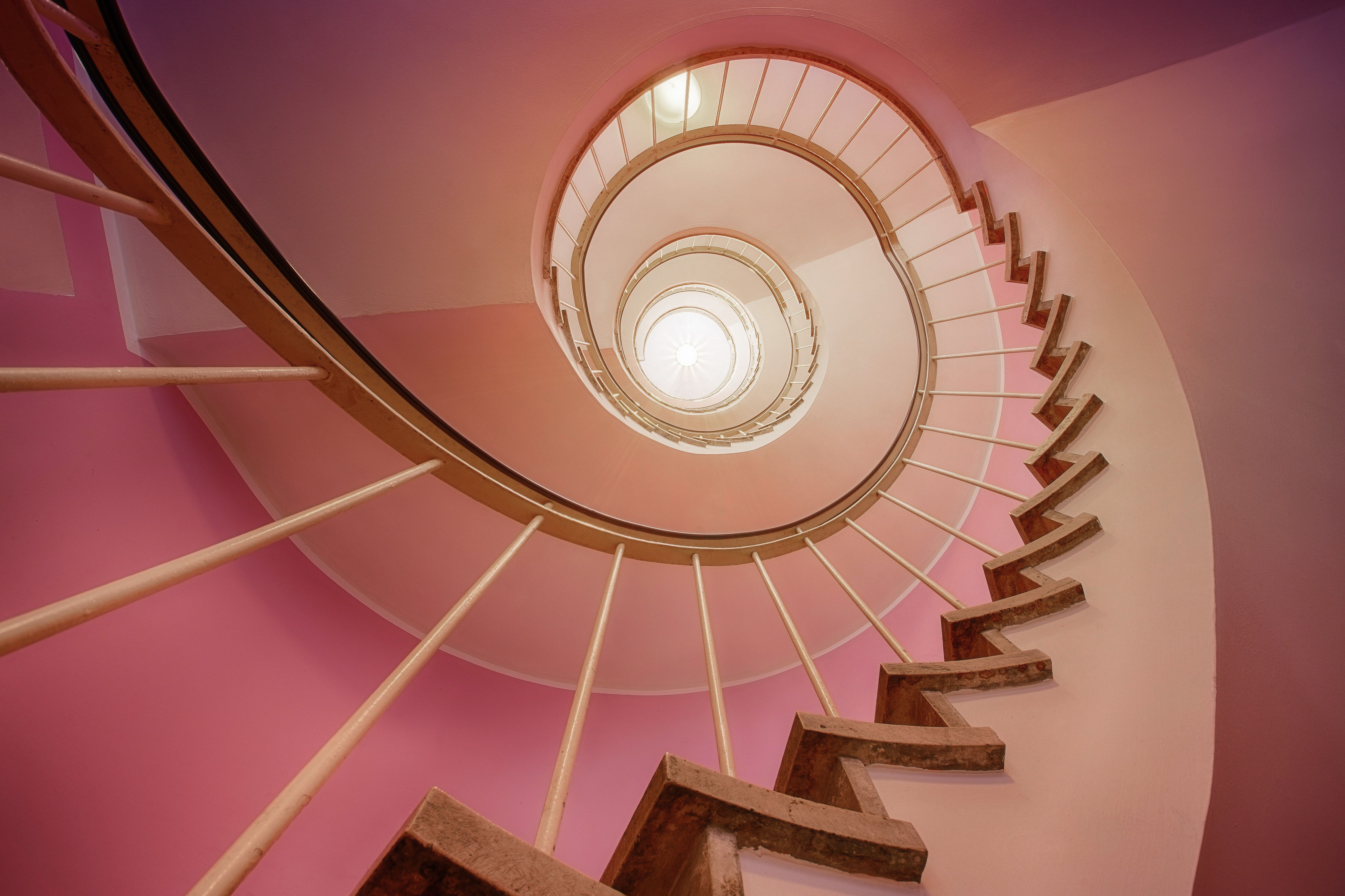 Best Pink Spiral Staircase Cachet Inspiration In 2019 400 x 300