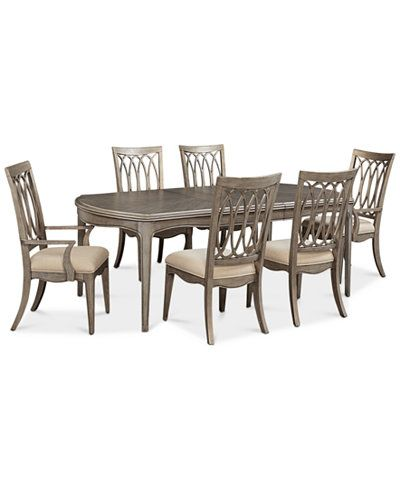 Kelly Ripa Home Hayley 7Pcdining Set Dining Table 4 Side New Macys Dining Room Chairs Design Decoration