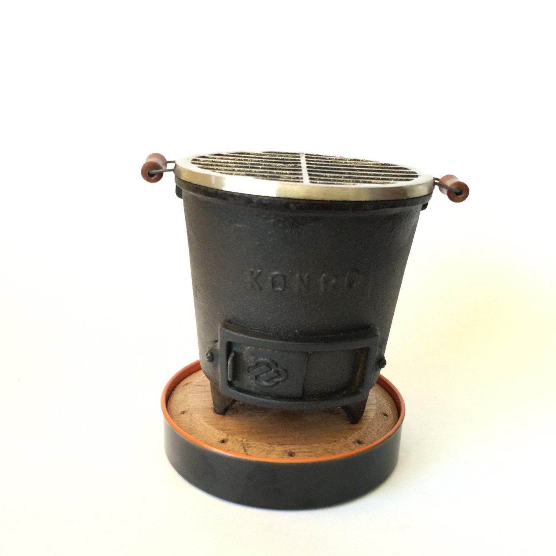Elegant Mini Tabletop Hibachi Grill Vintage Konro Cast Iron Japanese Cooking By  RetroResaleSanDiego On Etsy