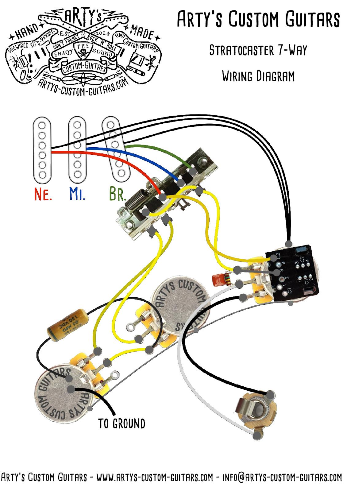 7WAY GILMOUR Prewired Kit Stratocaster in 2020 Gitarre