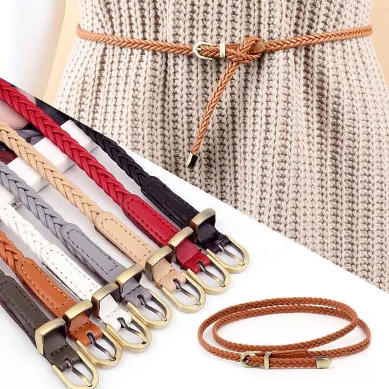 New Stylish Skinny Belts Girls Ladies Womans Brown
