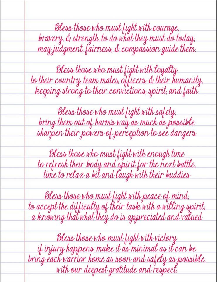 A prayer for our soldiers <3 | Deployment - Quotes | Pinterest ...