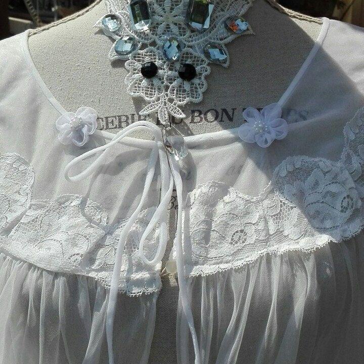 Vestaglia Shabby chic bianca wedding sposa woman tulle
