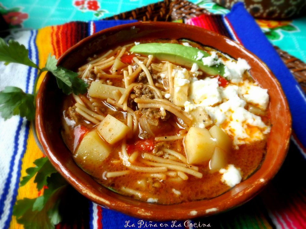 I Could Not Think Of Anything More Comforting Than A Big Bowl Of Sopa De Fideo Con Carne Beef And Pasta Sou Fideo Soup Recipe Mexican Food Recipes Fideo Recipe