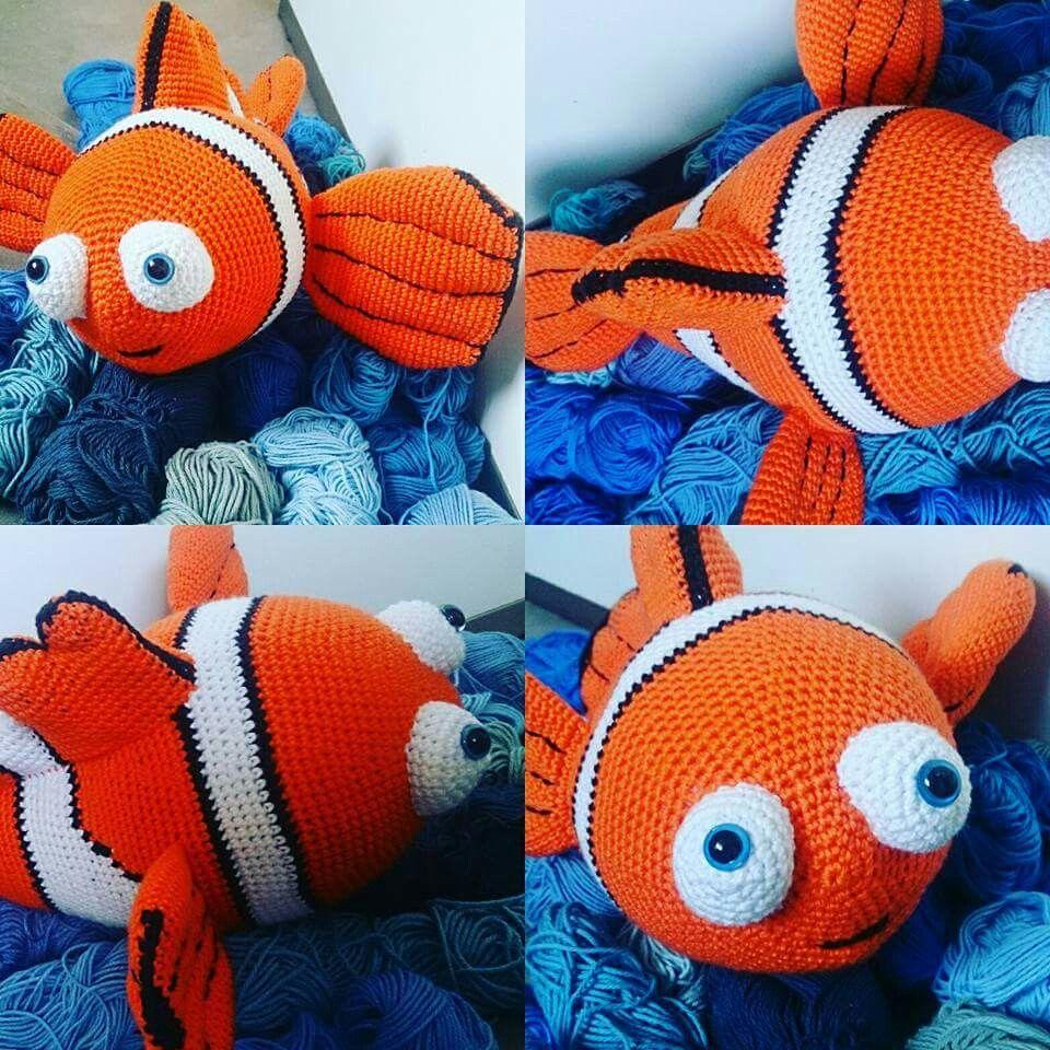 patron gratis de Nemo #amigurumi (en ingles) | Motivi per ... | 960x960