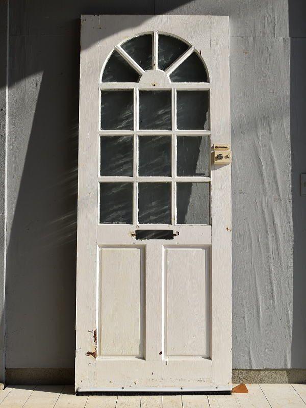 イギリス アンティーク ガラス入り木製ドア 扉 建具 7157 木製ドア