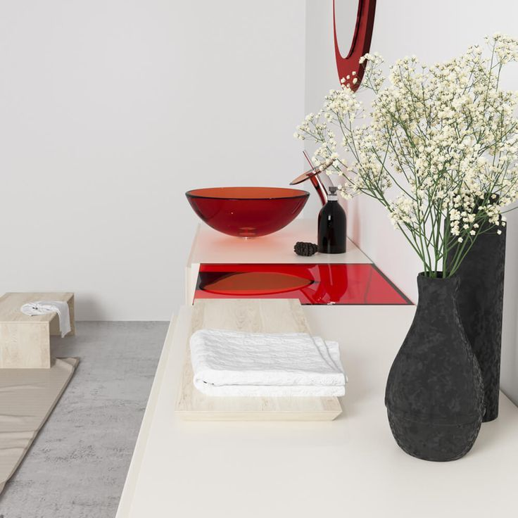 Add Some Attitude To Your Bathroom With A Pop Of Red The Vessel