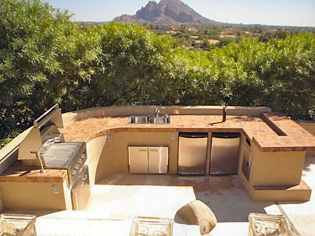 AMAZING outdoor kitchen with an incredible view....not too shabby